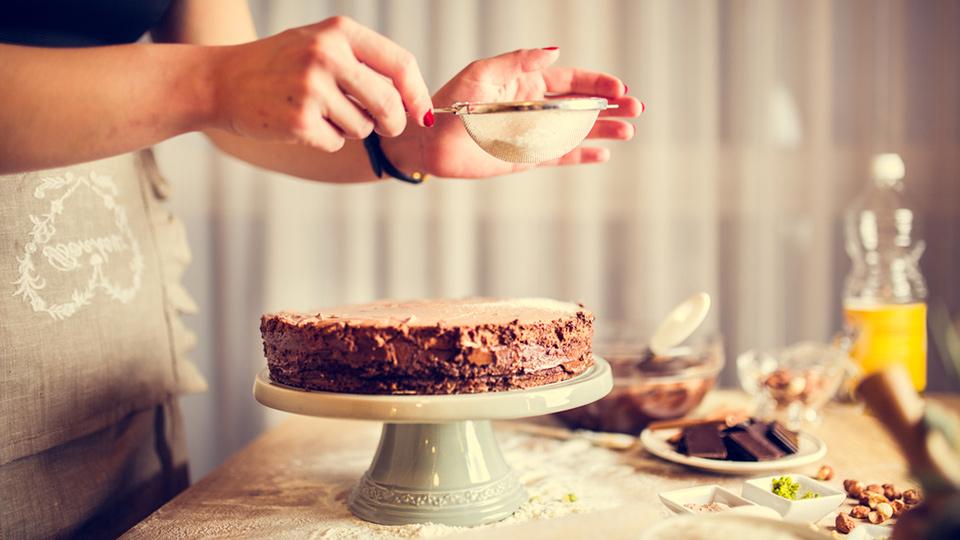 Homemade taart